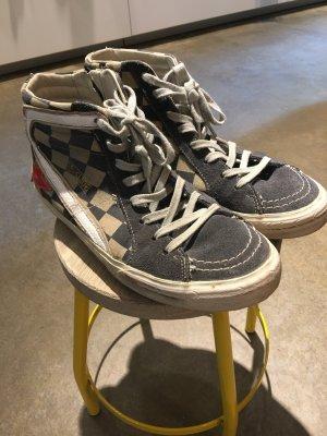 Golden Goose Sneaker Gr 41 blau weiß kariert