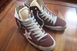 GOLDEN GOOSE Sneaker Gr. D 39 rot-braun TOP