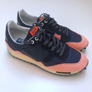 Golden Goose Sneaker Veloursleder Stoff navy korall 39
