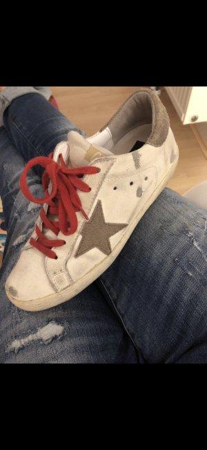 Golden Goose SUPERSTAR Sneaker 37 weiß grau rot