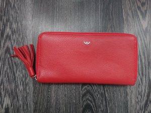 Golden Head Wallet red