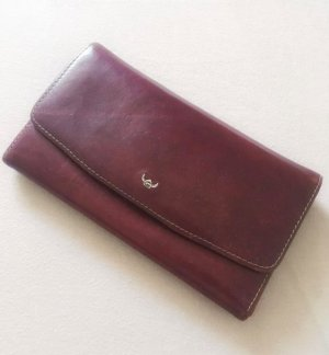 Wallet cognac-coloured-brown leather