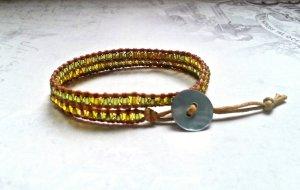 Golden Pearls • Wickelarmband