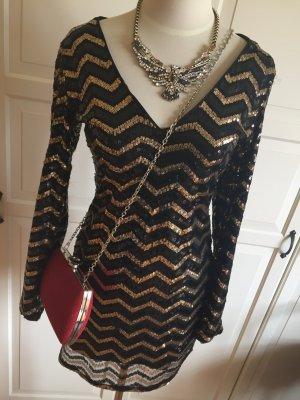 Golden Schwarzes Paillettenkleid (nur das Kleid)