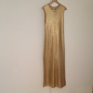 Golden Silk Blend Knit Dress