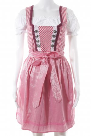 Golden Trachten Dirndl pink-white check pattern country style