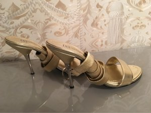 Lace-up Pumps gold-colored leather