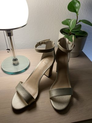 Gap Strapped High-Heeled Sandals gold-colored
