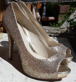 Goldene Abschlussball High Heels