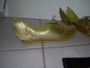 goldene Adidas-Sneaker Gr. 40 Jeremy Scott Wings Ballerinas