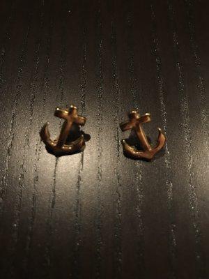 Goldene Anker-Ohrringe