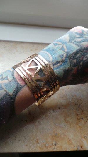 Goldene Armspange Geometrie Basic