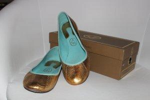Goldene Ballerinas ASH Schlangenlederoptik