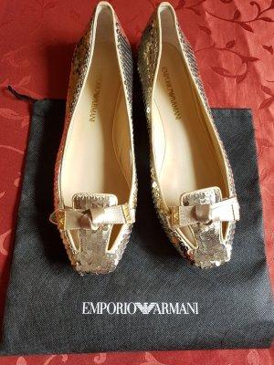 Emporio Armani Bailarinas color oro
