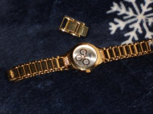 Buffalo Watch With Metal Strap gold-colored stainless steel