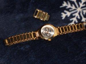 Buffalo Horloge met metalen riempje goud Edelstaal