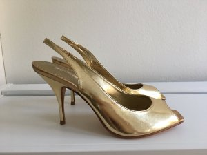 Goldene BUFFALO Pumps,  Gr. 39 NEU