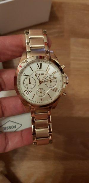goldene Damen Uhr Fossil neu mit Etikett