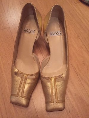 Linea Wally's Gesp-pumps goud