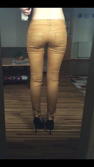 Goldene ecd Röhrenhose