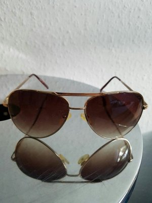 goldene Flieger- Sonnenbrille