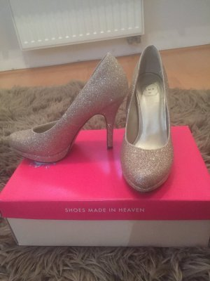 Goldene Glitter Pumps