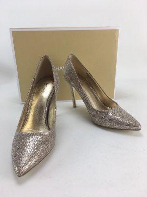 Goldene Glitzer High Heels von Michael Kors