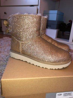 Goldene Glitzer Ugg Boots