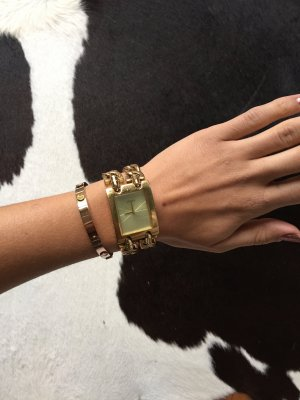 Goldene Guess Uhr mit Gliederarmband