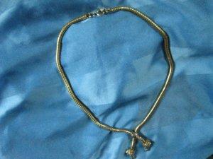 Goldene Halskette für Pferdefans