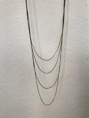 Goldene Halskette inkl Ohrringen