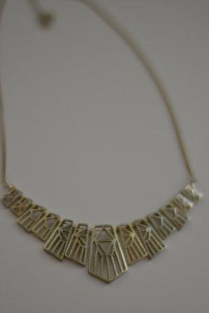 Goldene Halskette Statementkette Azteken Geometrisch