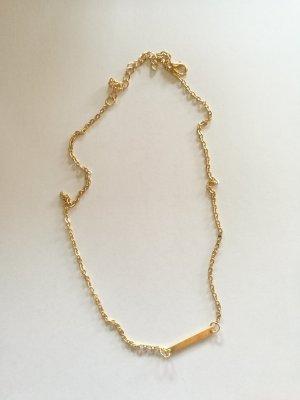 Goldene Halskette - zierlich, klein, süß