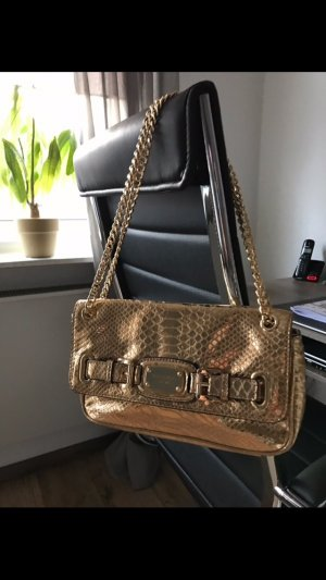 Goldene Handtasche Michael Kors shoulder flap bag