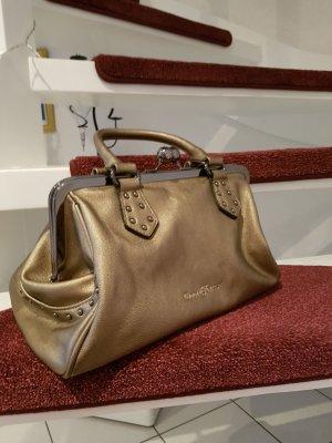 Goldene Handtasche von David Jones