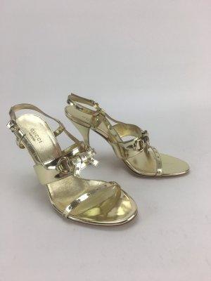 Goldene High Heel Sandalen von Gucci