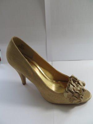 Goldene High Heel Sandalen von H&M, Gr. 38