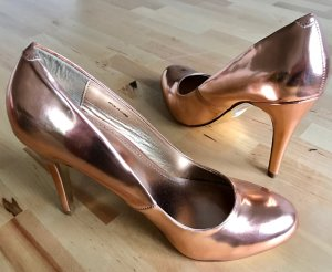 Goldene High Heels Gr. 38