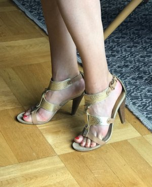 Nine west High Heel Sandal gold-colored