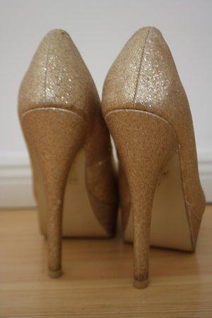 Goldene High Heels Pumps Jumex
