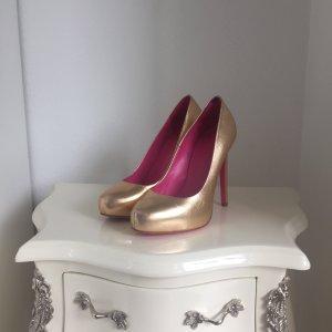 Goldene high heels von versus