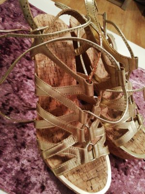 Aldo Wedge Sandals gold-colored