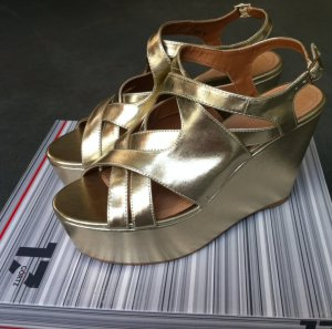 Görtz High-Heeled Sandals gold-colored