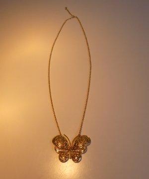 Goldene Kette mit Schmetterling