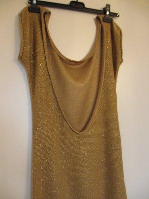 Goldene Kleid mit tollen Auschnitt im Rücken