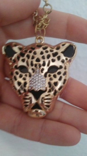 Goldene lange Jaguar Kette, dreidimensional, gross