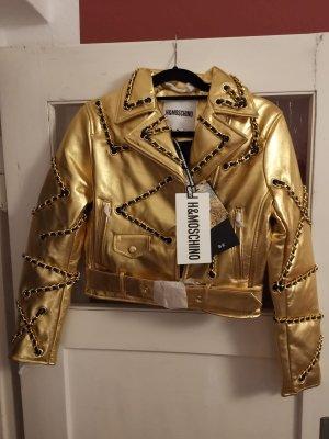 Goldene Lederjacke Moschino x H&M