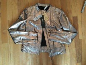 Goldene Lederjacke von BLACKY DRESS Berlin Gr. 34 NP 498€ NEU