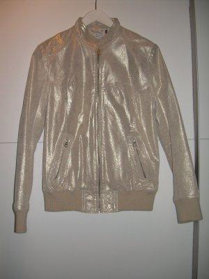 goldene Lederjacke von Tom Tailor Gr. L 40-42 Echtleder