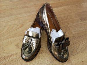 Goldene Loafers von Tory Burch 39,5
